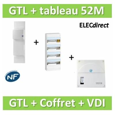 Rehau - Kit Cofralis - GTL 13M + tableau Legrand 52M + VDI 4RJ45 Casanova - 733808+401214+TRIETG14X4