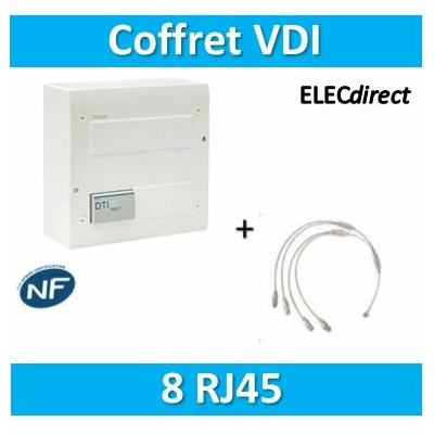Hager - Coffret de communication ECO 8xRJ45 - TN304