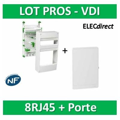 Schneider - Coffret communication avec emplacement BOX Grade 2 et 3 + porte - VDIR390035+R9H13423