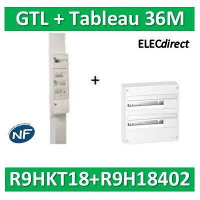 Schneider - Pack goulotte GTL 18M + tableau RESI9 36M - RHKT18+R9H18402