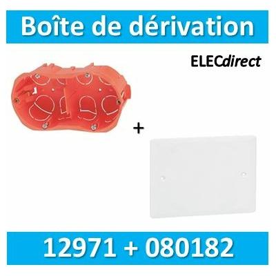 SIB - Boîte double entraxe 71 H/V + Couvercle universel 155 x 85 = boîte de dérivation - 12971+080182