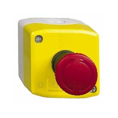Schneider - boite jaune arrêt urgence rouge - pousser tourner - 2O - Ø40 - XALK178F