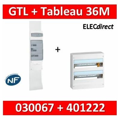 Legrand - Kit GTL 18M + tableau 36M - largeur 355mm - 030067+401222
