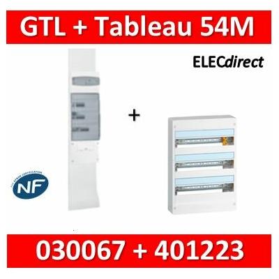 Legrand - Kit GTL 18M + tableau 54M - 030067+401223