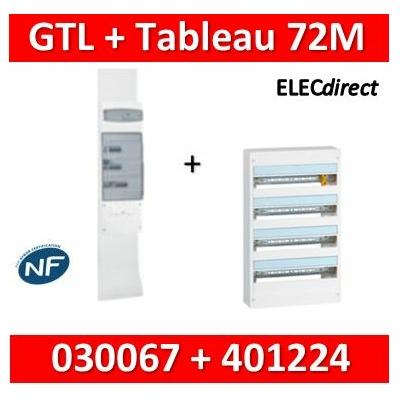 Legrand - Kit GTL 18M + tableau 72M - 030067+401224