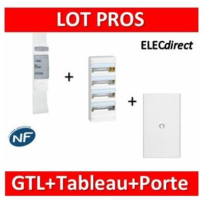 Legrand - Kit GTL 13M complet + tableau 52M + porte - 030037+401214+401334