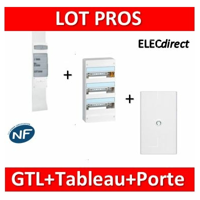 Legrand - Kit GTL 13M complet + tableau 39M + porte - 030037+401213+401333