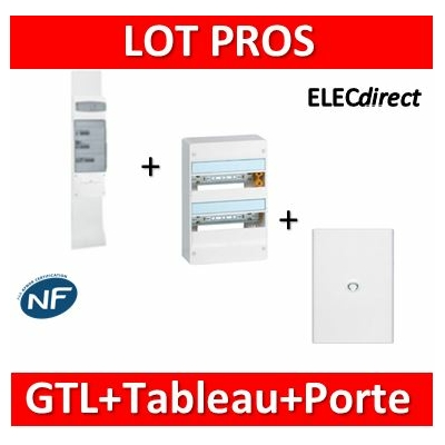 Legrand - Kit GTL 13M complet + tableau 26M + porte - 030037+401212+401332