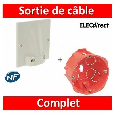 Legrand - Sortie de câble 32A - Fixation Vis + boîte SIB 32A - complet - 031490+18640