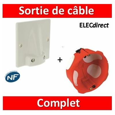 Legrand - Sortie de cable 32A - Fixation Vis + boîte SIB 32A BBC - complet - 031490+38640