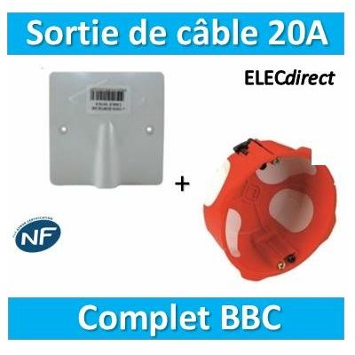 SIB - Sortie de câble 16/20A - à vis dim.boîte SIB BBC - P11016+36840