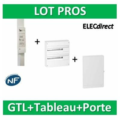 Schneider - Pack goulotte GTL 18M + tableau RESI9 36M + porte - RHKT18+R9H18402+R9H18422