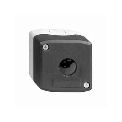 Schneider - Harmony boite - 1 trou - couvercle gris foncé - fond gris clair - XALD01