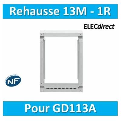 Hager - Réhausse pour GD113A - GR113AN