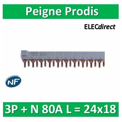 Schneider - Peigne Prodis 3P +N 80A - L = 24x18 - 21092