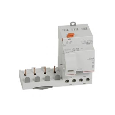 Legrand - Bloc diff adapt DX³-vis-4P-400V~-40A-typeAC-30mA-disj 1mod/pôle-câbl trad - 410499