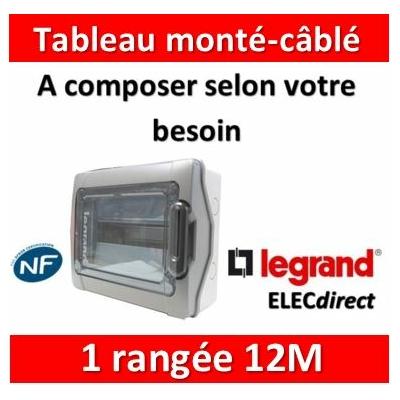 Legrand - Coffret Plexo monté-câblé 1 rangée - 12 modules