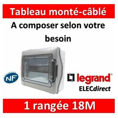 Legrand - Coffret Plexo monté-câblé 1 rangée - 18 modules