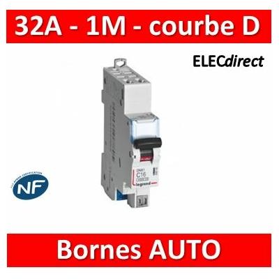 Legrand - Disjoncteur AUTO courbe D - DNX3 - 32A - Ph+N - 1M - 406812