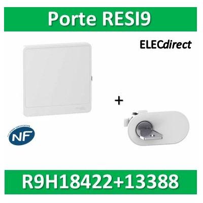 Schneider - Resi9 - porte styl Blanc coffret 18M - 2R + serrure avec clé - R9H18422+R9H13388