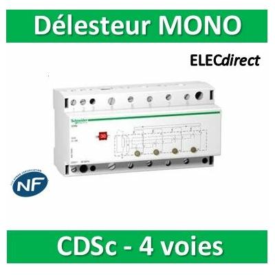 Schneider - CDSs mono, contacteur délecteur 4 voies 240VCA, délestage cyclique - A9C15906