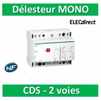 Schneider - CDS mono, contacteur délecteur 2 voies 240VCA - A9C15908