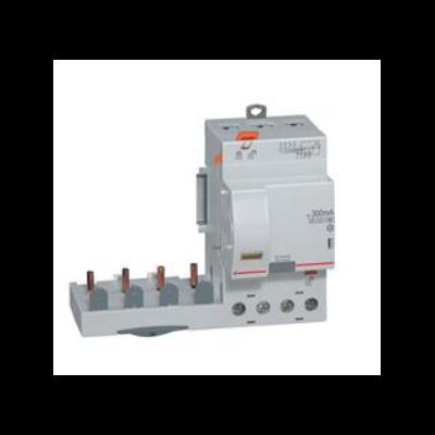 Legrand - Bloc diff adapt DX³-vis-4P-400V~-40A-typeAC - 300mA-disj 1mod/pôle-câbl trad - 410511