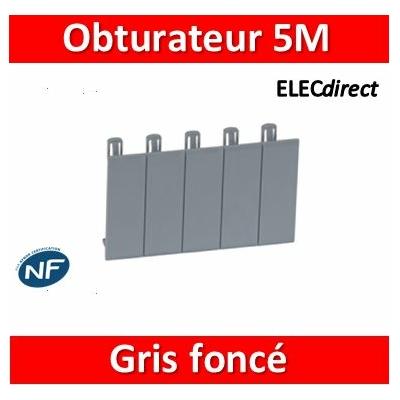 Legrand - Obturateurs (5) - gris foncé R746A - 001961