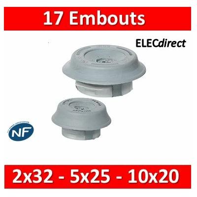 Legrand - Embouts à perforation directe - 2 x Ø32 mm - 5 x Ø25 mm - 10 x Ø20 mm - 001955