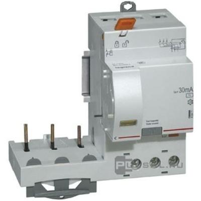 Legrand - Bloc diff adapt DX³-vis-3P-400 V~-40 A-type AC-300 mA-disj 1 mod/pôle - 410474