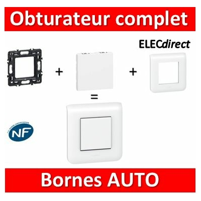 Legrand Mosaic - Obturateur - 2 modules - complet