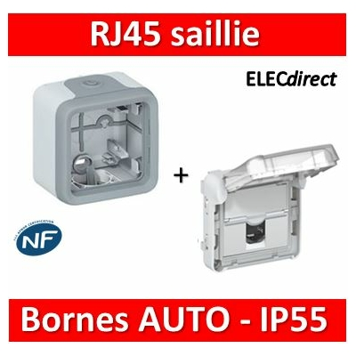 Legrand Plexo - RJ45 saillie - IP55/IK07 - 069569+069651