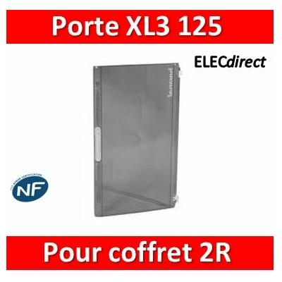 Legrand - Porte transparente XL³ 125 - IP 40-IK 09 pour coffret 2 rangées réf. 401612 - 401872