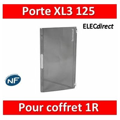 Legrand - Porte transparente XL³ 125 - IP 40-IK 09 pr coffret 1 rangée réf 401611/650/651 - 401871