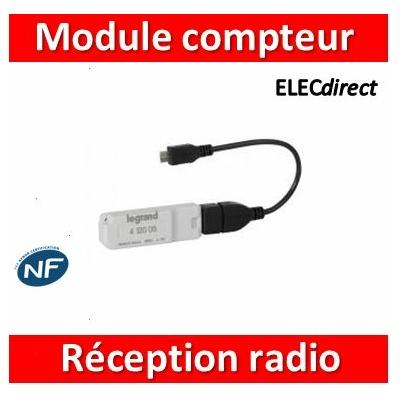 Legrand - Module de réception Radio pour écocompteur - 1 module - 412005
