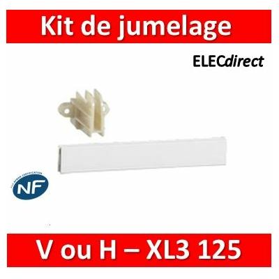 Legrand - Kit de jumelage - vertical ou horizontal pour 2 coffrets XL³ 125 - 401845