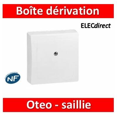 Legrand Oteo - Boîte de dérivation appareillage saillie complet - blanc - 086057