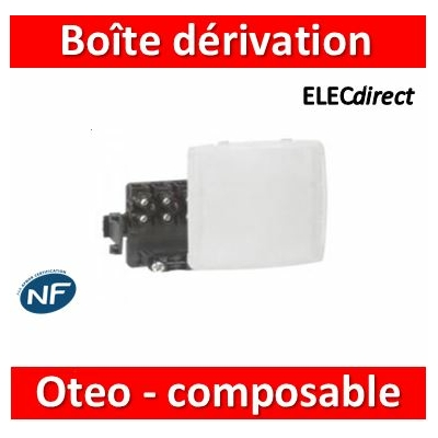 Legrand Oteo - Boîte de dérivation appareillage saillie composable - blanc - 086157
