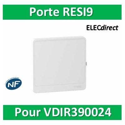 Schneider - Resi9 - porte styl Blanc coffret pour VDIR390024 - R9H13415
