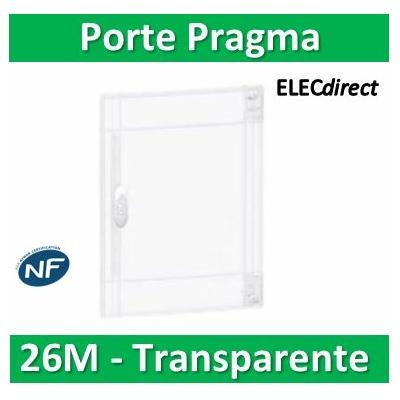 Schneider - Porte trasparente coffret PRAGMA IP40/IK09 - 2 rangées de 13 modules - 26M - PRA15213