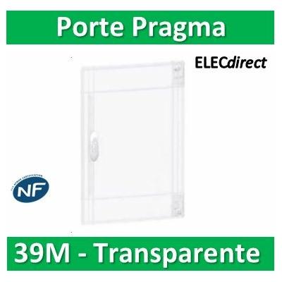 Schneider - Porte transparente coffret PRAGMA IP40/IK09 - 3 rangées de 13 modules - 39M - PRA15313