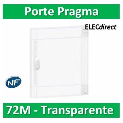 Schneider - Porte transparente coffret PRAGMA IP40/IK09 - 4 rangées de 18 modules - PRA15418