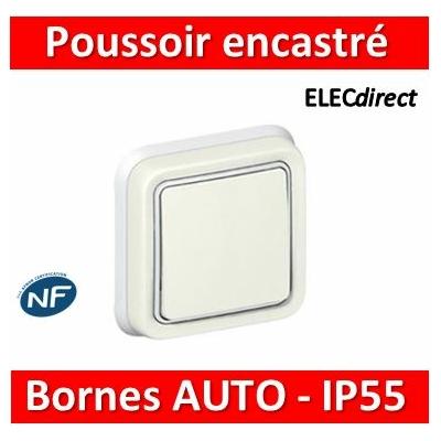 Legrand Plexo - Poussoir NO + NF Prog Plexo complet encastré blanc - 10A - 069861