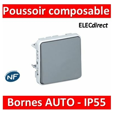 Legrand Plexo - Poussoir composable 10A - 230V - IP55/IK07- 069540