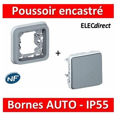 Legrand Plexo - Poussoir encastré 10A - 230V - IP55/IK07 - 069540-069681