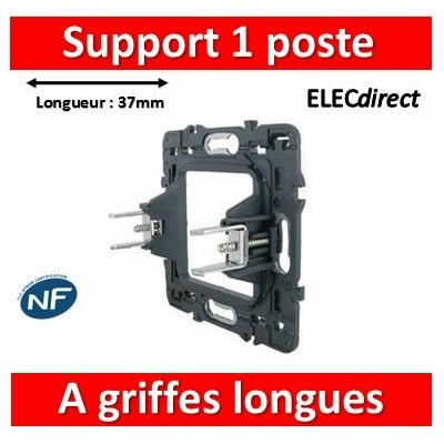 Legrand - Support 1 poste (2M) - Mosaic/Céliane à griffes longues - 080269