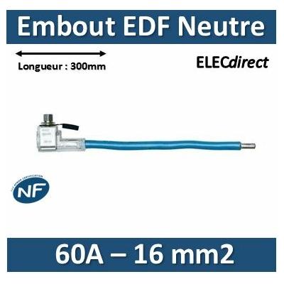Klauke - Embout de raccordement EDF Neutre - Bleu - 60A - 16mm2