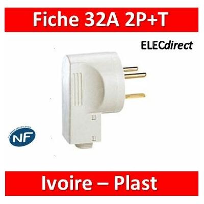 Legrand - Fiche 32A - Plast - 2P+T - Ivoire - 055802