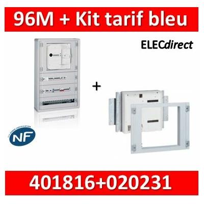 Legrand - Coffret 96 modules - avec espace dédié - XL3 160 + kit tarif bleu - 401816+020231