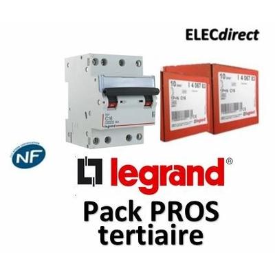Legrand - Disjoncteur 4P DX3 - 16A - 6kA - courbe C - 406910x3